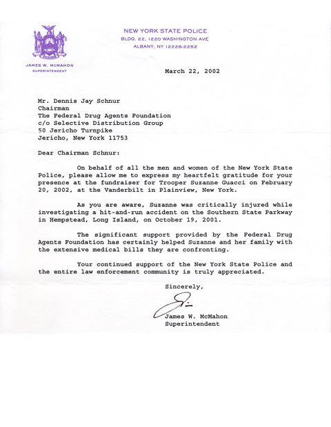 Thank You Letter To Department